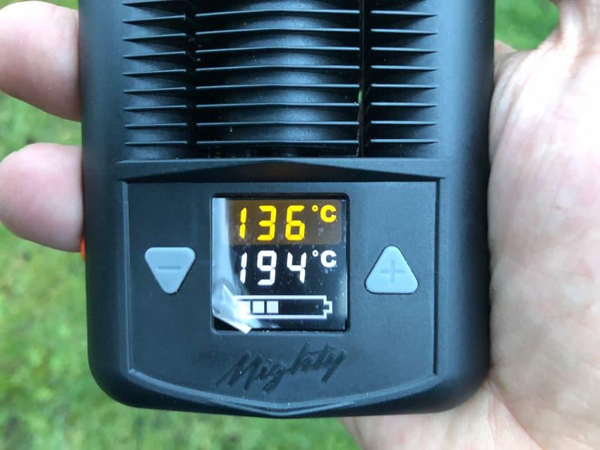 Die Temperaturskala vom Mighty Vaporizer