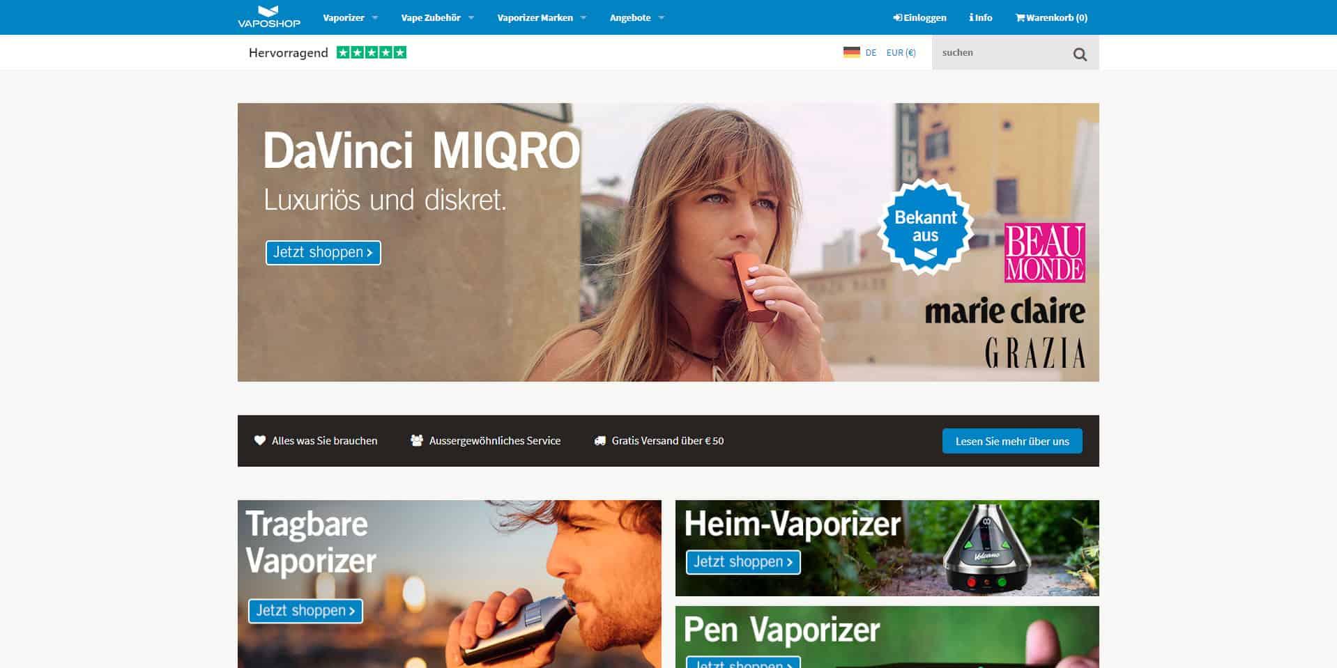 Vaposhop.de Vaporizer Online Shop