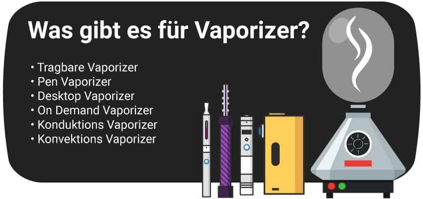 Was gibt es für Vaporizer?